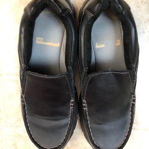 Men's Black Faded Glory Dress Shoes Size 7.5 GUC